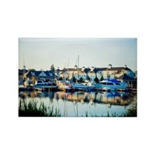 Nautical Village Marina Pickering Rectangle Magnet