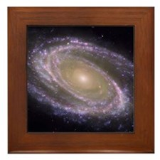 Messier 81 spiral galaxy Framed Tile