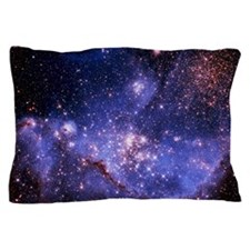 Stars and Milky Way Pillow Case