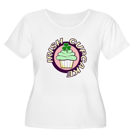 Irish Cupcake Women's Plus Size Scoop Neck T-Shirt