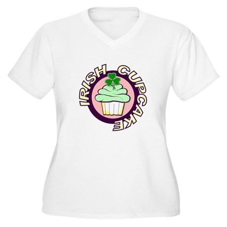 Irish Cupcake Women's Plus Size V-Neck T-Shirt