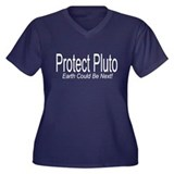 Protect Pluto! Earth Could B Women's Plus Size V-