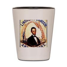 Lincoln Johnson Shot Glass