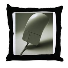 Mouse, Close Up Throw Pillow