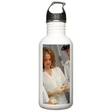 Two female dentists an Water Bottle