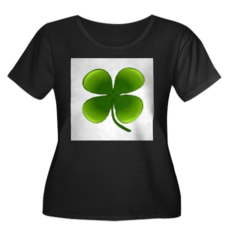 Shamrock Women's Plus Size Scoop Neck Dark T-Shirt