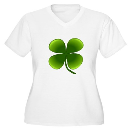 Shamrock Women's Plus Size V-Neck T-Shirt