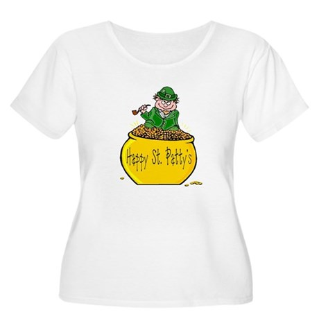 Pot of Gold Women's Plus Size Scoop Neck T-Shirt