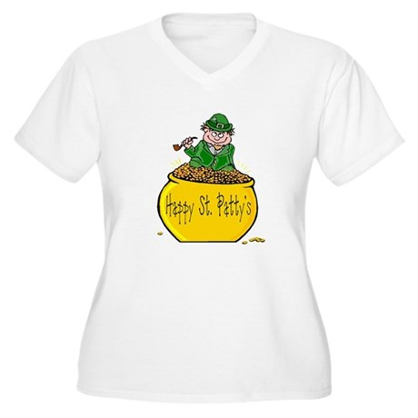 Pot of Gold Women's Plus Size V-Neck T-Shirt