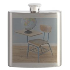 Globe and school desk Flask
