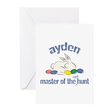 Easter Egg Hunt - Ayden Greeting Cards (Package of