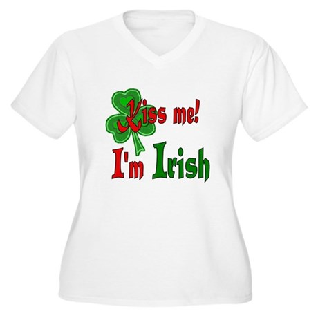 Kiss Me Irish Women's Plus Size V-Neck T-Shirt