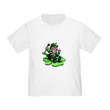Leprechaun on Shamrock Toddler T-Shirt