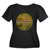 Sandhill Crane Women's Plus Size Scoop Neck Dark T