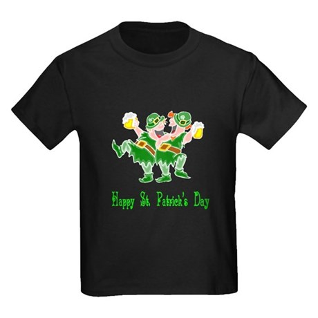 Leprechaun Dance Kids Dark T-Shirt