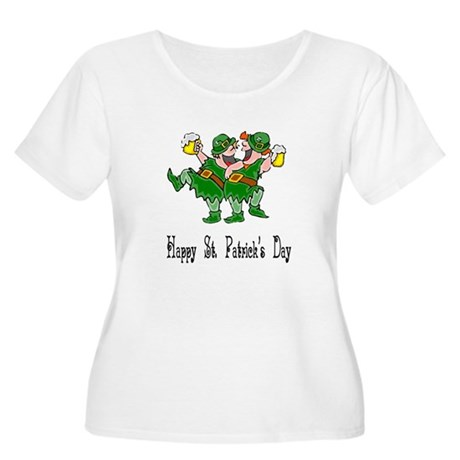 Leprechaun Dance Women's Plus Size Scoop Neck T-Sh