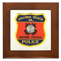 Virginia Beach Marine Patrol Framed Tile