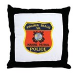 Virginia Beach Marine Patrol Throw Pillow