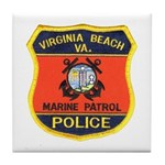 Virginia Beach Marine Patrol Tile Coaster