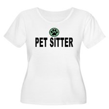 Pet Sitter Green Stripes T-Shirt