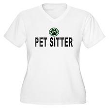 Pet Sitter Green Stripes T-Shirt