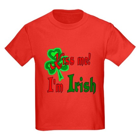 Kiss Me I'm Irish Kids Dark T-Shirt