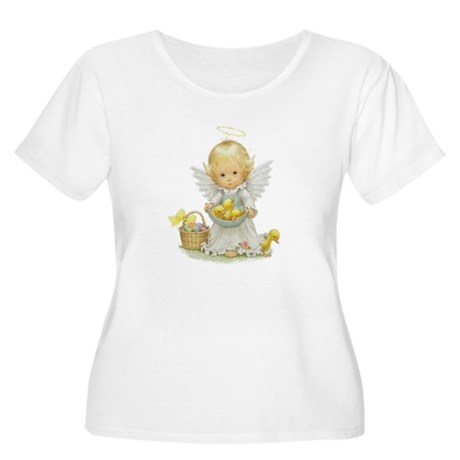Easter Angel Women's Plus Size Scoop Neck T-Shirt