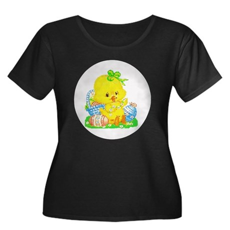 Easter Duckling Women's Plus Size Scoop Neck Dark