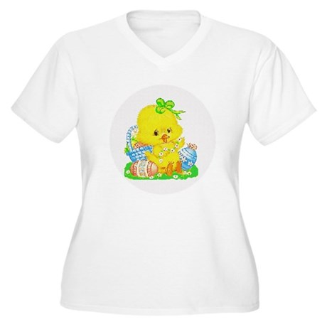 Easter Duckling Women's Plus Size V-Neck T-Shirt