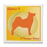 Buhund Happiness Tile Coaster