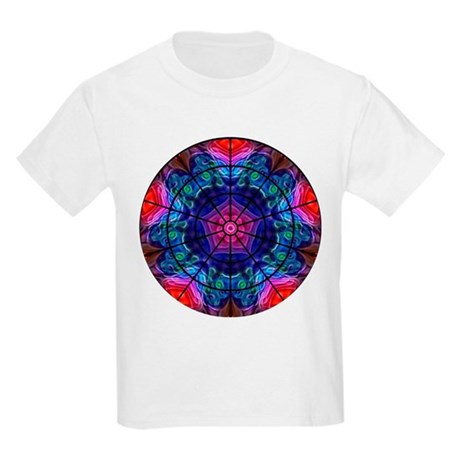 Kaleidoscope Fractal 008 Kids Light T-Shirt