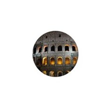 Most famous monument in Rome, Italy. Mini Button