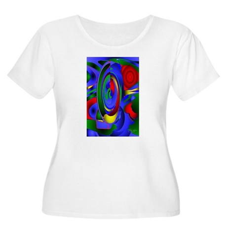 Abstract 001a Women's Plus Size Scoop Neck T-Shirt