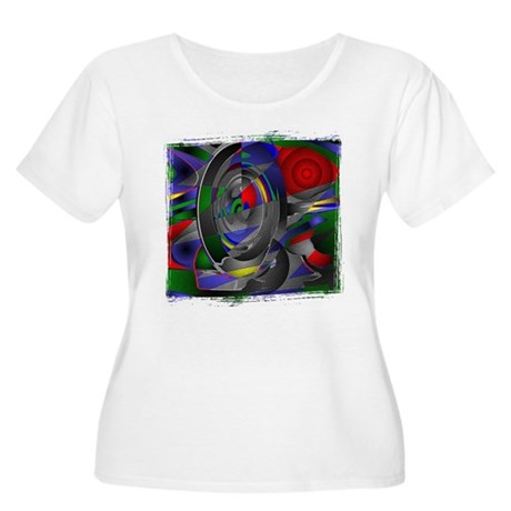 Abstract 002a Women's Plus Size Scoop Neck T-Shirt