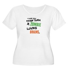 More Than Zombie Loves Brains Plus Size Scoop Tee