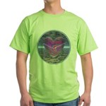 Psychedelic Heart Green T-Shirt