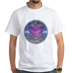 Psychedelic Heart White T-Shirt