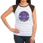 Psychedelic Heart Women's Cap Sleeve T-Shirt