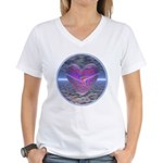 Psychedelic Heart Women's V-Neck T-Shirt