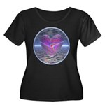 Psychedelic Heart Women's Plus Size Scoop Neck Dar