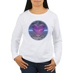 Psychedelic Heart Women's Long Sleeve T-Shirt