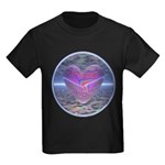 Psychedelic Heart Kids Dark T-Shirt