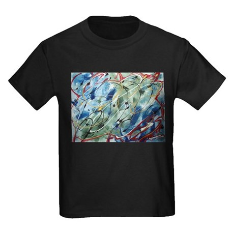 Untitled Abstract Kids Dark T-Shirt