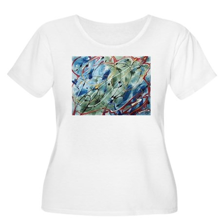 Untitled Abstract Women's Plus Size Scoop Neck T-S