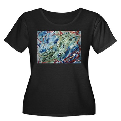 Untitled Abstract Women's Plus Size Scoop Neck Dar