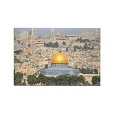 Jerusalem and Dome of rock Rectangle Magnet