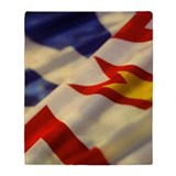 Newfoundland  flag Fleece Blankets