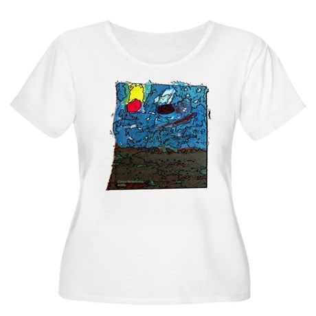 Two Asteroids Women's Plus Size Scoop Neck T-Shirt