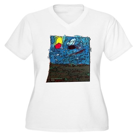 Two Asteroids Women's Plus Size V-Neck T-Shirt