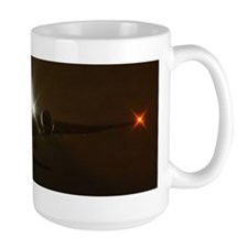 Boeing 777 night takeoff Mug